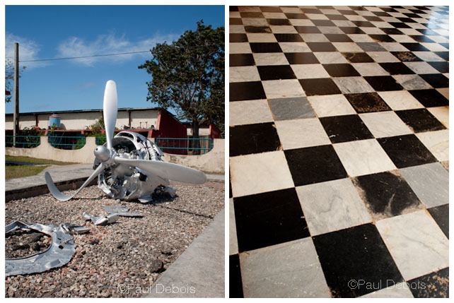 Left: Bay of Pigs museum. Right: Museum, Viñales.
