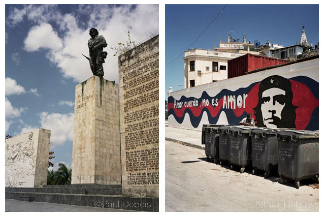 Left: Che Guevara memorial, Santa Clara. Right: Mural, Havana