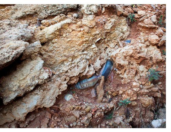 Cala del Aceite - landslide debris
