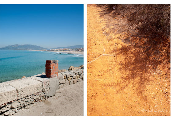 Left: Tarifa. Right: Feunte del Sol