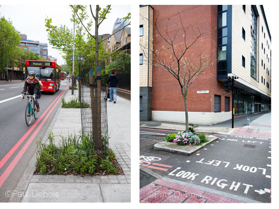 21.5.12, First Chelsea Fringe Festival - Left: Pimp Your Pavement - London, near Elephant and Castle. Right: Pimp Your Pavement - Globe Street near Elephant and Castle