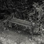 Derelict seating on A4 near Gunnersbury Park gate