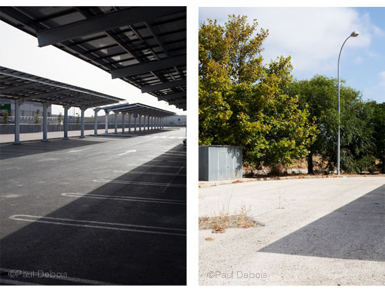 Left: Ikea car park, Jerez. Right: derelict petrol station, Conil