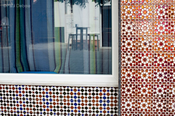 shop with traditional tiles, Conil