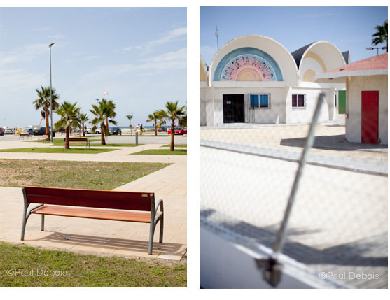 Left: Seafront park, Conil. Right: Youth club, Conil