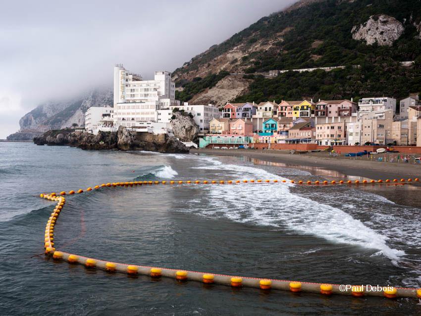Catalan Bay, Gibraltar, with view towards Hotel Caleta