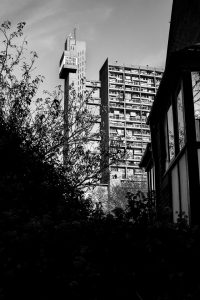 Trellick Tower, Golborne Road, London, designed by Erno Goldfinger