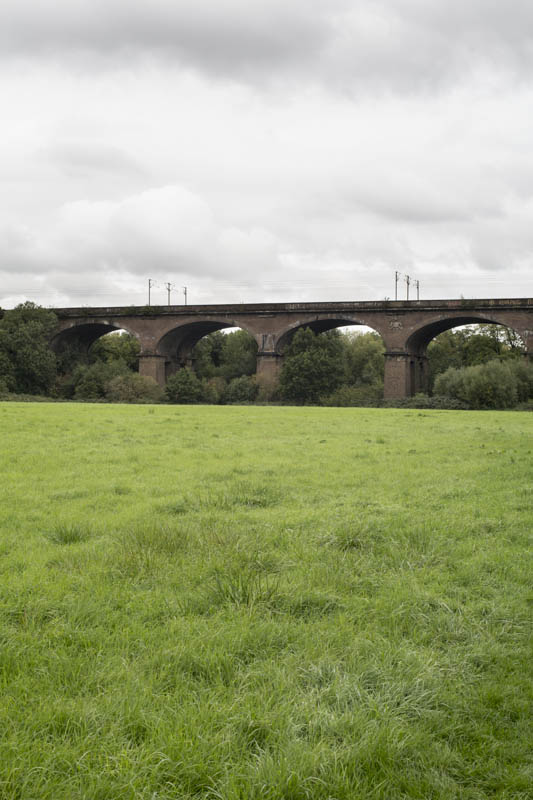 Wharncliffe Viaduct through Brent Meadows, Hanwell