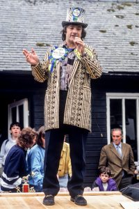 Screaming Lord Sutch at Man v Horse Marathon Llanwrtyd Wells, 1990