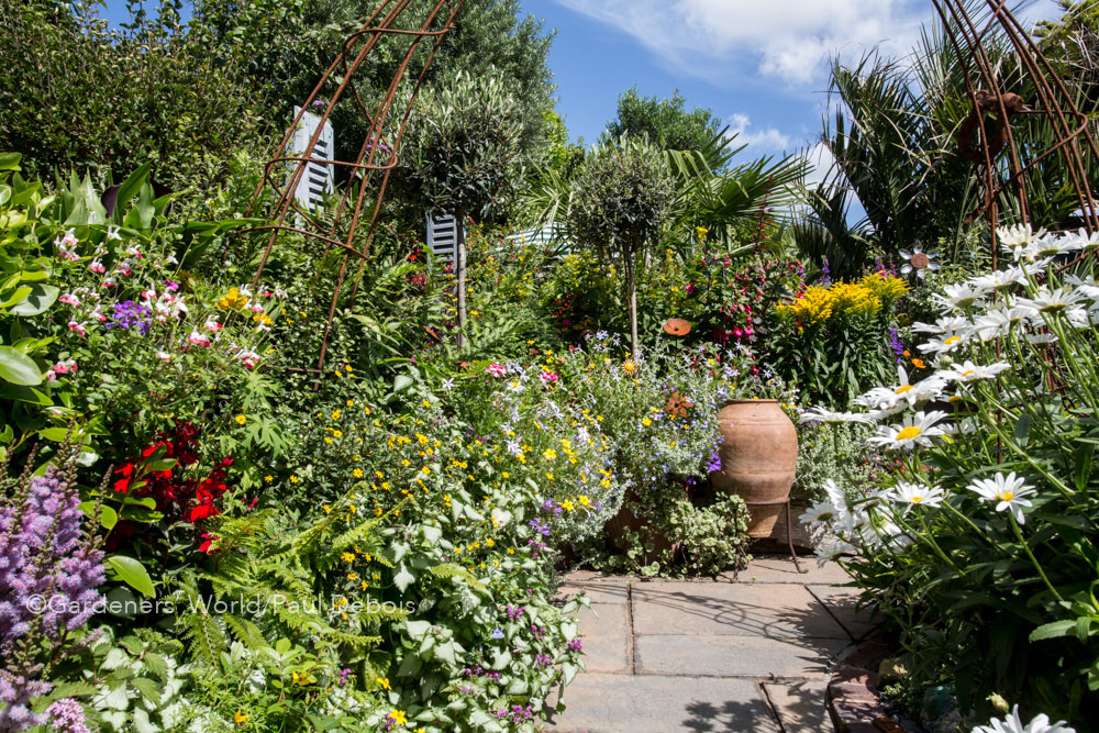 Geoff Stonebanks, small garden, Seaford, Sussex