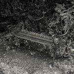 Derelict seating on A4 near Gunnersbury Park gate