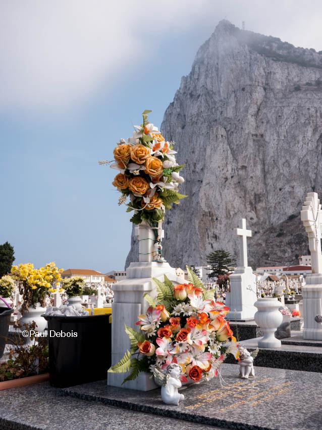 Cemetery next to Airport, Gibraltar