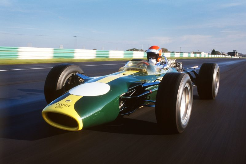 Graham Hill's Lotus 49, driven at Snetterton by Tiff Needell