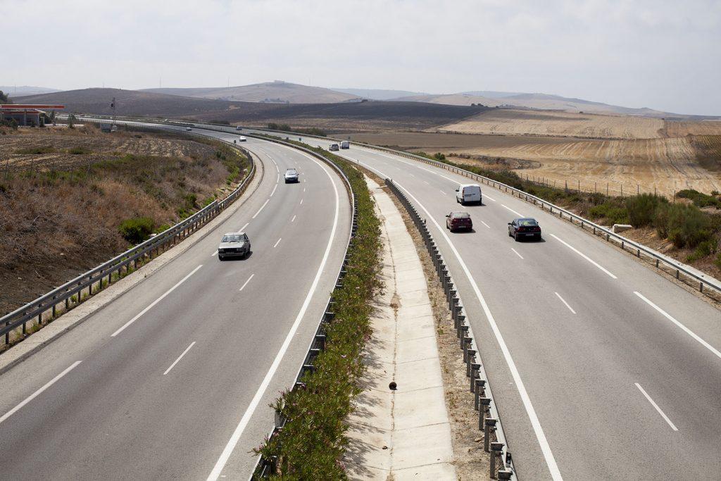 The A48 or Autovia de la Costa de la Luz, between Conil and Vejer De La Frontera, 20.8.12