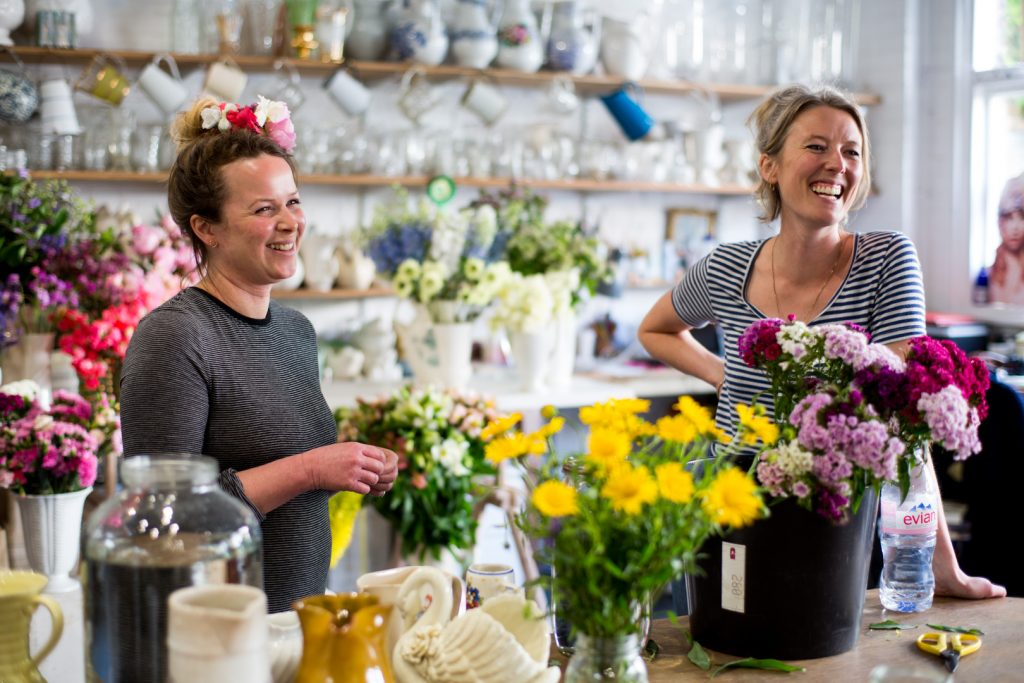 Ellie and Anna at 'The Flower Appreciation Society'