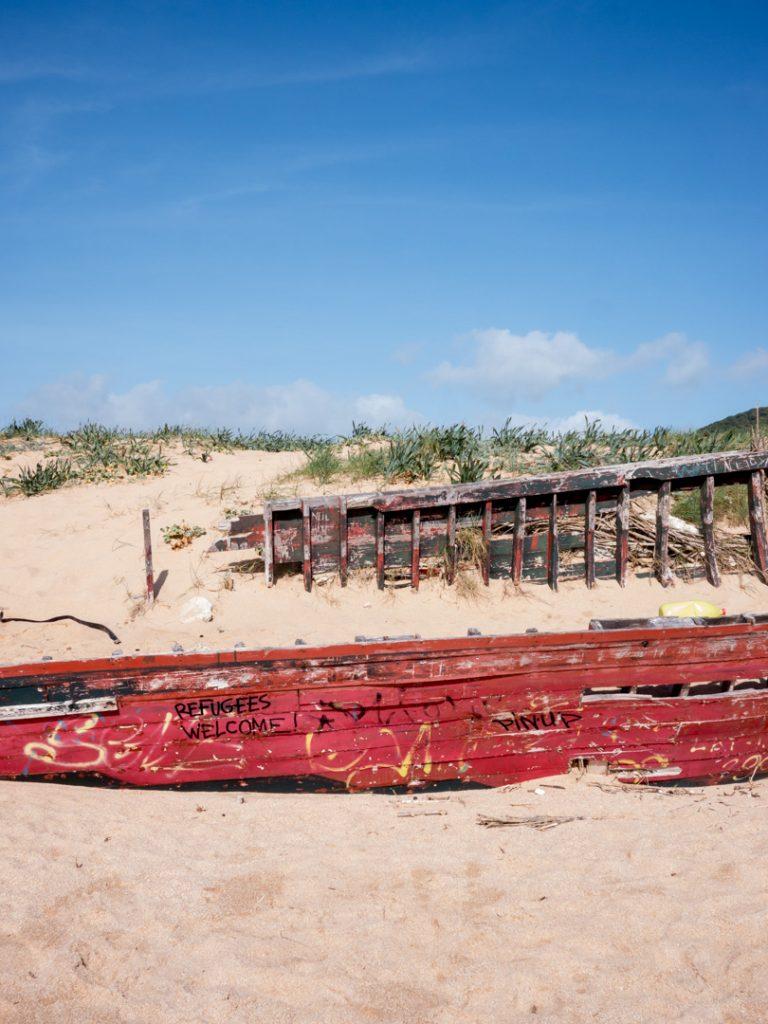 Wrecked boat, Los Caños de Meca, Spain