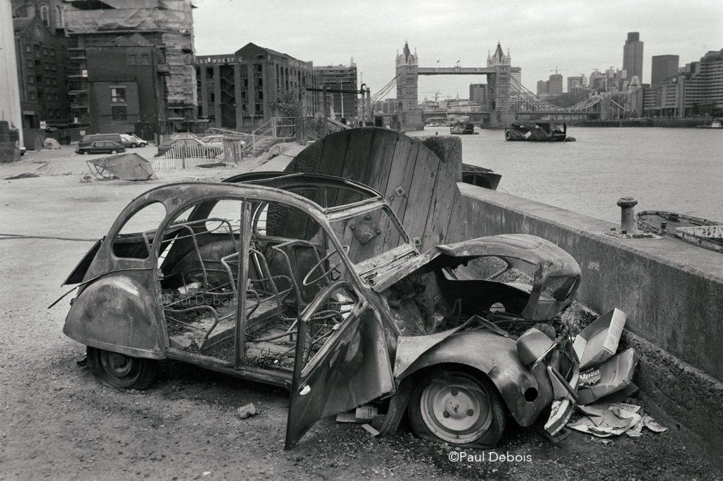 Citröen 2CV, Butler's Wharf, 1985
